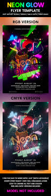 glow flyer neon glow flyer template by flyermania graphicriver