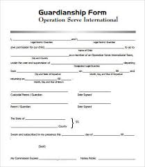 Guardianship paperwork