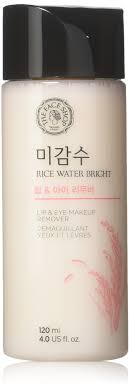 theface oil free liquid eye makeup remover natural rice water lipstick