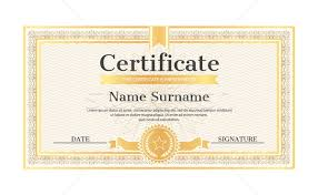 Name A Star Certificate Template Simple Certificate Template Editable Name Surname Date Vector Illustration
