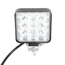 16LED 48W /14LED 42W Làm Việc 12V 24V Đèn LED Siêu Sáng Vuông Tròn Tự Động  xe Tải Off Road Mini Ledbar Offroad Phụ Kiện Light Bar/Work Light