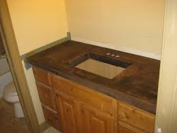 bath concrete countertop after acid staining