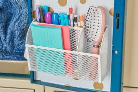 featured s gold metallic polka dot locker wallpaper white mesh magnetic organizer bin