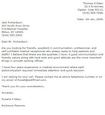 Medical Receptionist Cover Letter Sample   LiveCareer florais de bach info