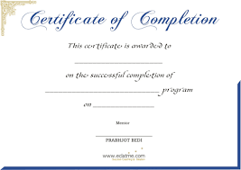Impressive Certificate Of Completion For Completing A Program