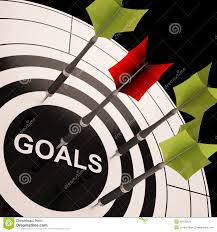 goals on dartboard shows aspired objectives stock images image goals on dartboard shows aspired objectives