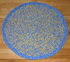 measurement 31 diameter material cotton colors blue and yellow