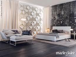 Camera Da Letto Beige E Marrone : Arredamento camera da letto tende e carte parati marieclaire