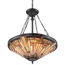 stained glass chandelier vintage bronze 4 light bowl pendant with stained glass antique stained glass chandeliers