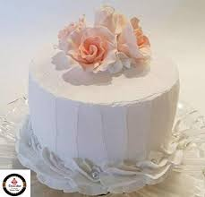 Dezicakes Fake Wedding Cake Peach Roses Faux Cake Prop White With Peach Prop