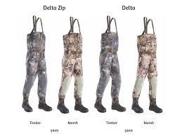 Sitka Waders Size Chart Sitka Delta Vs Delta Zip Wader Comparison Blackovis Community