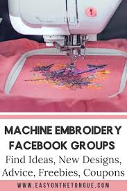 Facebook Embroidery Designs Machine Embroiderers Get The Know How In Facebook Groups