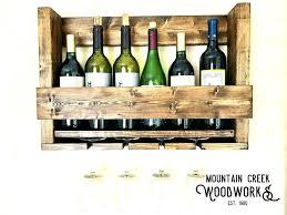 glass rack shelf wine