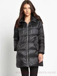 womens sel jackets winter coats womens coats colour black padded coat