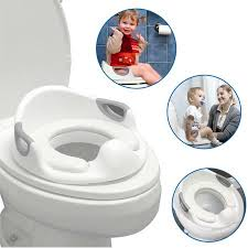 Easygo Potty Toddler Training Seat For Boys And Girls With Cushion Toilet Seat Portable With Anti Slip And Anti Splash Features Toilet Trainer