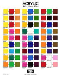 acrylic color mixing chart free pdf