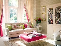 feminine living room white sofa big window book cabinet