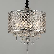 Silver Pendant Light Fixtures Modern Chandelier Silver Pendant Light With Crystal Drops
