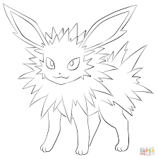 Flareon Coloring Pages Jolteon Coloring Page Free Printable ...