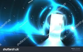 Light Tunnel B Q Light Tunnel Open Door Dark Room Stock Vector Royalty Free