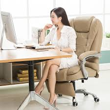 office reclining chairs. Leather Ergonomic Reclining Swivel Executive Office Chair Computer Lying Lifting Adjustable Bureaustoel Ergonomisch -in Conference Chairs From