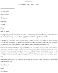 Phlebotomist Cover Letter Example For Job Applications
