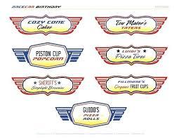 Free Disney Cars Printables Free Cars Inspired Printable Food Labels