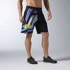 Details About Reebok Menss One Series Shattered Stripe Training Crossfit Shorts Ax9449