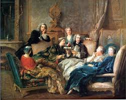 salon gathering  a reading of moliere jean francois de troy about 1728 paris salons of the 18th century