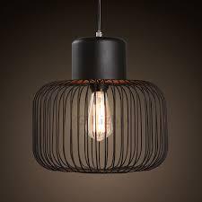 design wrought iron fixture cage black lights