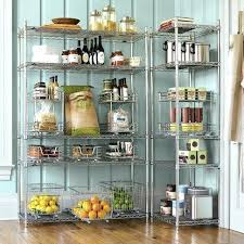 ikea wire shelving open pantry with wire shelves a little classier than our cur from wire