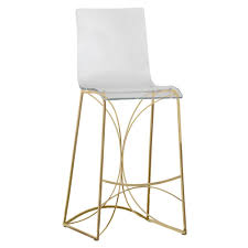 Acrylic Barstool Gabby Angela Bar Counter Stool Gold Candelabra Inc