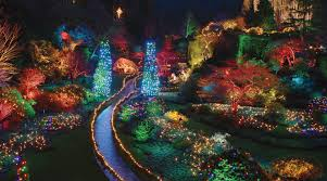 Garden Of Lights January 1 Butchart Gardens Christmas Lights Package Clipper Vacations