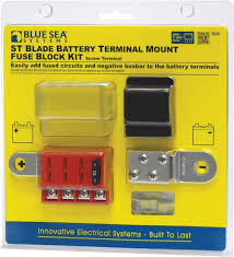 blue sea st blade battery terminal mount fuse block kit
