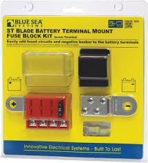 blue sea st blade battery terminal mount fuse block kit