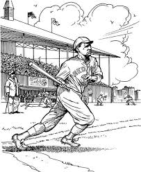 Small Picture Babe Ruth Coloring Pages Draw Background Babe Ruth Coloring Pages