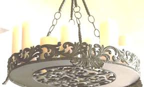 chandeliers non electric chandelier lighting candle wrought iron votive pillar electrical