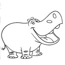 Small Picture Printable Hippo Coloring Pages Me Printable adult