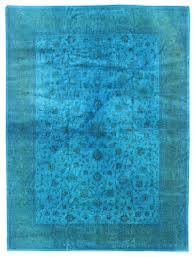 overdyed and patchwork rug gallery blue overdyed rug hand knotted in stan