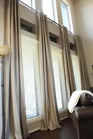 Image Tejaratebartar Simple Eyelet Heading On Rods Great For Tall Windows For Dramatic Height Effect Not Wise Choice For Wide Windows Though Pinterest Ready Made Extra Long Curtains Window Treatment Extra Long