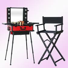 1set lot lighting makeup table with portable chair makeup station with lightatching foldable chair