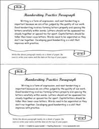 How To Practice Penmanship Handwriting Practice Paragraph Freebie Includes Lined