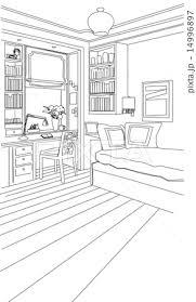 部屋のイラスト素材 14996897 Pixta