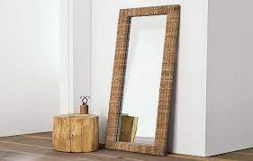 ikea floor mirrors with unique wood