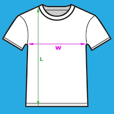 Unisex Cotton T Shirt Size Chart Product Size Chart
