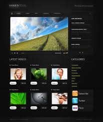 website template video video gallery website template 29535