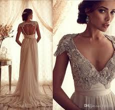 tassel beads lace wedding dress inspired latest deep v open back