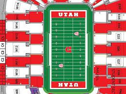 Rice Eccles Stadium Detailed Seating Chart Utes To Stripeout Res For Usu Game Block U
