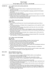 Java Application Developer Resume Samples Velvet Jobs