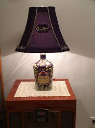 Crown Royal Pool Table Light Made This Lamp Shade With Crown Royal Bags And Bottle For